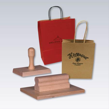 Stämplar för papperspåsar, emballage