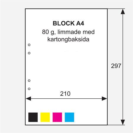 1-4 färgstryck/ kartongbaksida